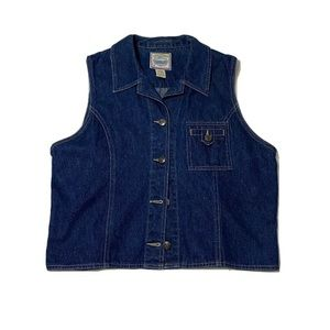 Women's St. John's Bay Vintage Denim Jacket Vest